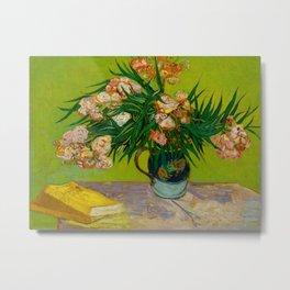 Oleanders Vincent van Gogh Oil On Canvas Floral Still Life Painting Metal Print