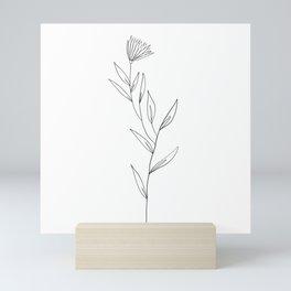 Flower and leaves Mini Art Print