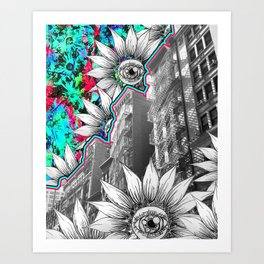 NYC Flower Escapes Art Print