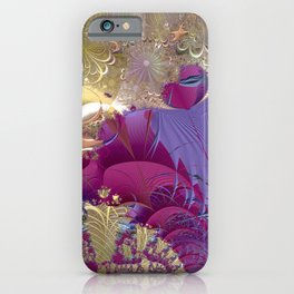 Feelings of being in love -- Fractal illustration iPhone Case