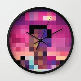 Acid Pixel Rap Wall Clock