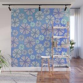 sea urchin blue watercolor Wall Mural
