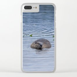 Beavers at Breakfast Clear iPhone Case