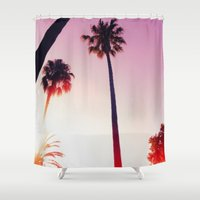 palm tree Shower Curtains featuring Palm tree by Emma.B