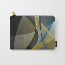 lines & shades art digital curry cyan Carry-All Pouch