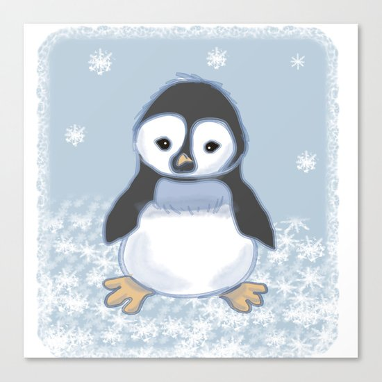 Frosty pinguin Canvas Print