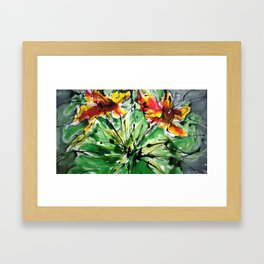 heavenly flowers Framed Art Print