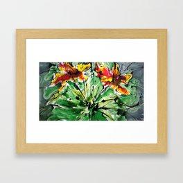 heavenly flowers Framed Art Print