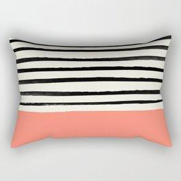 Coral x Stripes Rectangular Pillow