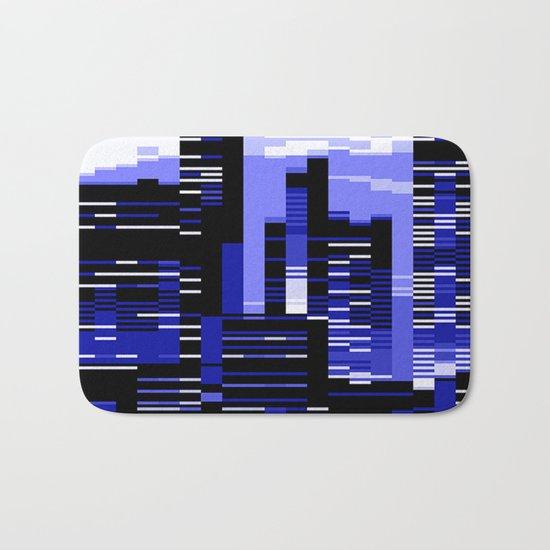pxl cityscape Bath Mat