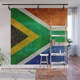 Flag of South Africa - Vintage Banner version Wall Mural