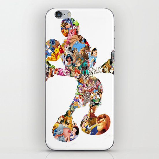 Mickey Mouse Silhouette  iPhone & iPod Skin