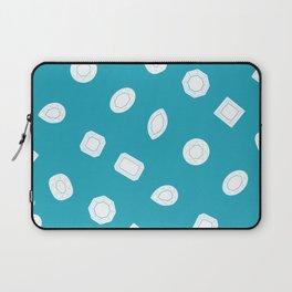 Blue Moissy Gem Pattern Laptop Sleeve