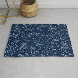 Constellations animal constellations stars outer space night sky pattern by andrea lauren Rug