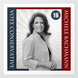 Michele Bachmann For President Art Print