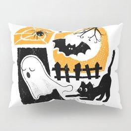 Beware of the Cat on Halloween Pillow Sham