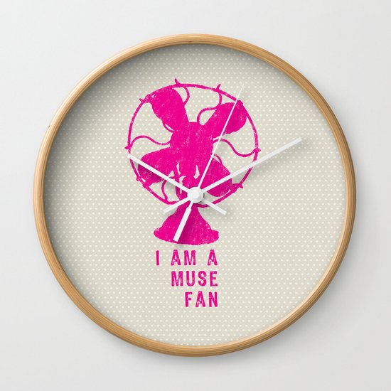i am a muse fan Wall Clock