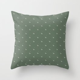 floral seed pod Throw Pillow