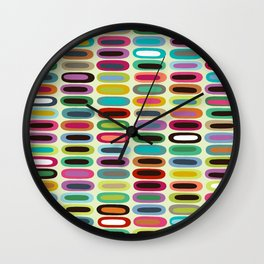 New York lozenge cream Wall Clock