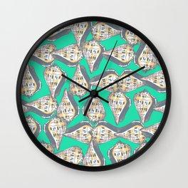 Seashells pattern Wall Clock