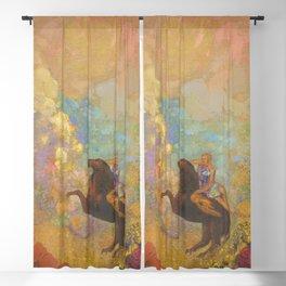 Muse on Pegasus - Odilon Redon Blackout Curtain