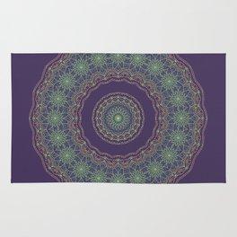 Lotus Mandala in Dark Purple Rug