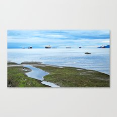 Setting Sea Canvas Print