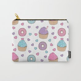 Doughnuts, donuts and cupcakes pattern Carry-All Pouch