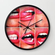 Oral Fixation 1 Wall Clock