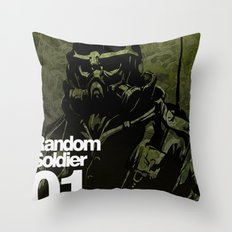 Random Solider 01 Throw Pillow