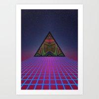 sci fi Art Prints featuring Sci-Fi by Mr. Power
