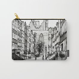 GOTHIC STREET OF POLISH CITY GDANSK IN GREY TONES Carry-All Pouch
