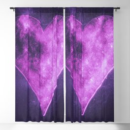 Heart symbol. Playing card. Abstract night sky background Blackout Curtain