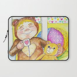Teddybear tea-time Laptop Sleeve