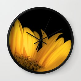 Yellow petals Wall Clock