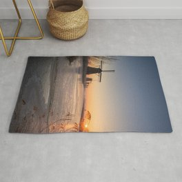 Windmills at Sunrise Rug