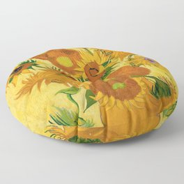 Sunflowers by Van Gogh Floor Pillow