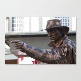 Copper Cowboy Canvas Print