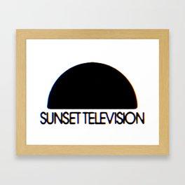 Sunset Television Logo Framed Art Print