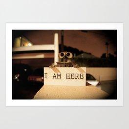 WALL-E    -  I AM HERE Art Print