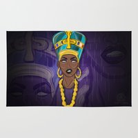 "lebron Area & Throw Rugs featuring ""Neffortlessly"" by SaintCastro"