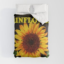 Vintage Yellow Orangedale Sunflower Crate Decorative Art Label Poster Comforters