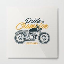 Classic Motorcycle Club Illustration Metal Print
