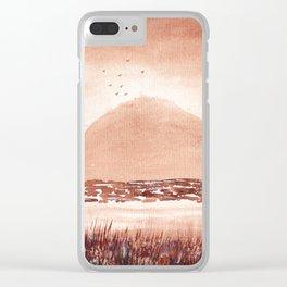 Monochromatic Landscape Painting Clear iPhone Case