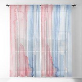 20     190907   Watercolor Abstract Painting Sheer Curtain