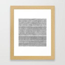 The Rosetta Stone Framed Art Print