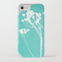 decal iPhone & iPod Cases featuring Abstract Flowers 1 by Mareike Böhmer