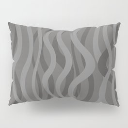 Waves grey grey background Pillow Sham