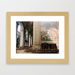 cathedral light Framed Art Print
