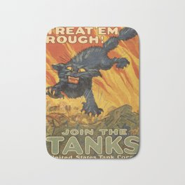 Vintage poster - Join the Tanks Bath Mat